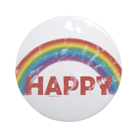 Happy Ornament (Round)