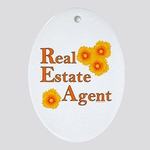 Real Estate Agent Oval Ornament
