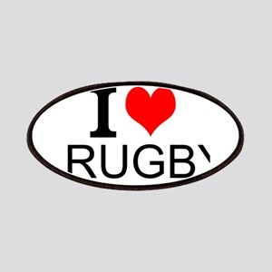 I Love Rugby Patches