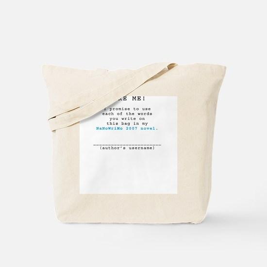 Dare Me! NaNoWriMo 2007 Tote Bag
