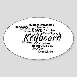 Keyboard Word Cloud Sticker