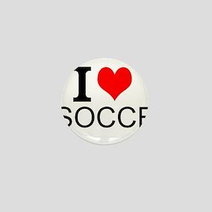I Love Soccer Mini Button