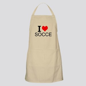 I Love Soccer Apron