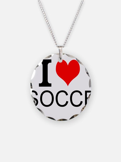 I Love Soccer Necklace