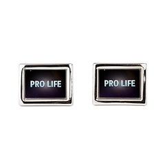 Pro Life Rectangular Cufflinks