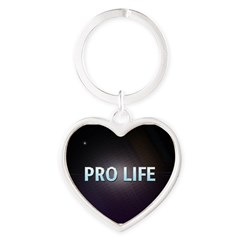 Pro Life Heart Keychain