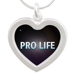 Pro Life Silver Heart Necklace
