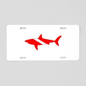 Diver Down Great White Shark Aluminum License Plat