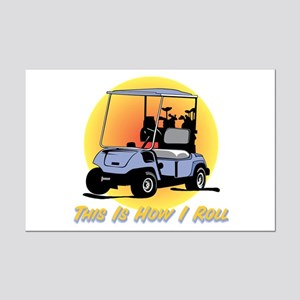 This Is How I Roll Golf Mini Poster Print