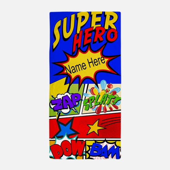 Superhero Comic Book Custom Beach Towel