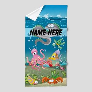 Cute Fish Kids Custom Beach Towel