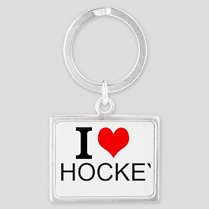 I Love Hockey Keychains