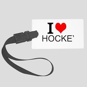 I Love Hockey Luggage Tag