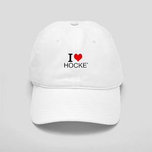 I Love Hockey Baseball Cap