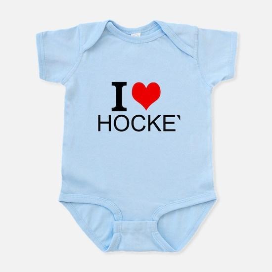 I Love Hockey Body Suit