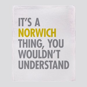 Its A Norwich Thing Throw Blanket