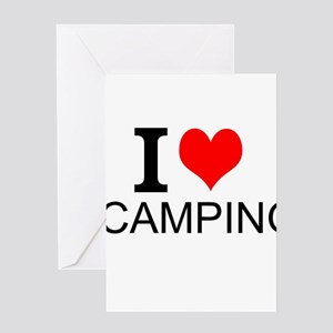 I Love Camping Greeting Cards
