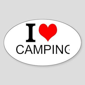I Love Camping Sticker