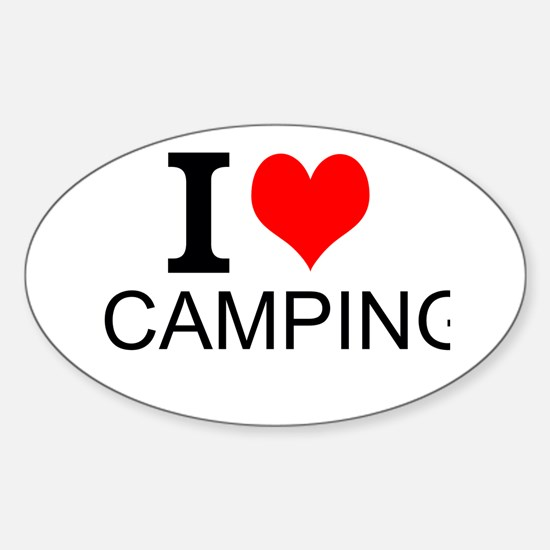 I Love Camping Decal