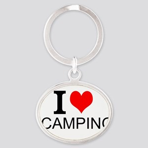 I Love Camping Keychains