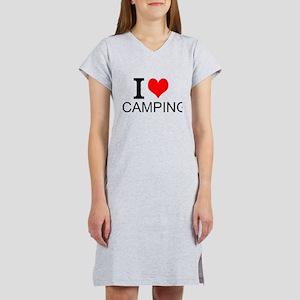I Love Camping Women's Nightshirt