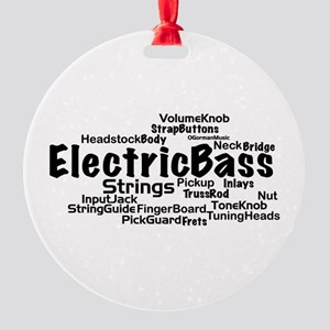 Electric Bass Word Cloud Ornament