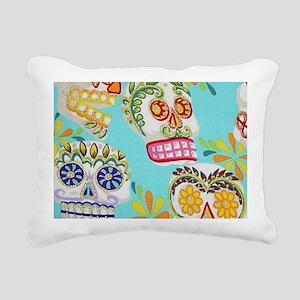 Modern Fun Decorative Sugar Skulls Rectangular Can
