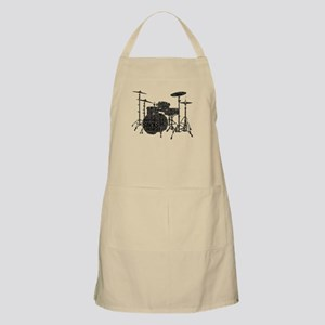 Drum Set Shaped Word Cloud Apron