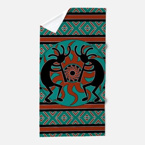 Cute American indian Beach Towel