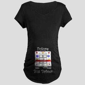 Future Bus Driver Maternity Dark T-Shirt