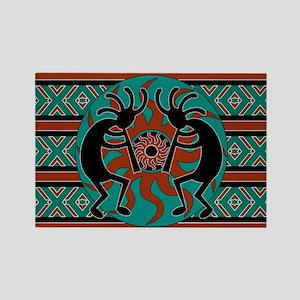 Turquoise Kokopelli Magnets