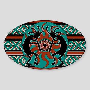 Turquoise Kokopelli Sticker