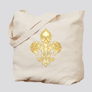 Fleur de lis Bride Tote Bag