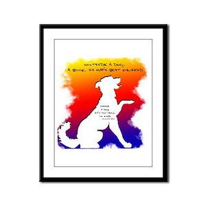 Too Dark to Read Rainbow Framed Panel Print