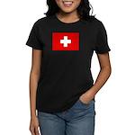 SWISS CROSS FLAG Women's Dark T-Shirt