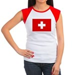 SWISS CROSS FLAG Women's Cap Sleeve T-Shirt