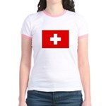 SWISS CROSS FLAG Jr. Ringer T-Shirt