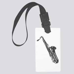 Tenor Sax Shaped Word Cloud (Black Text) Luggage T