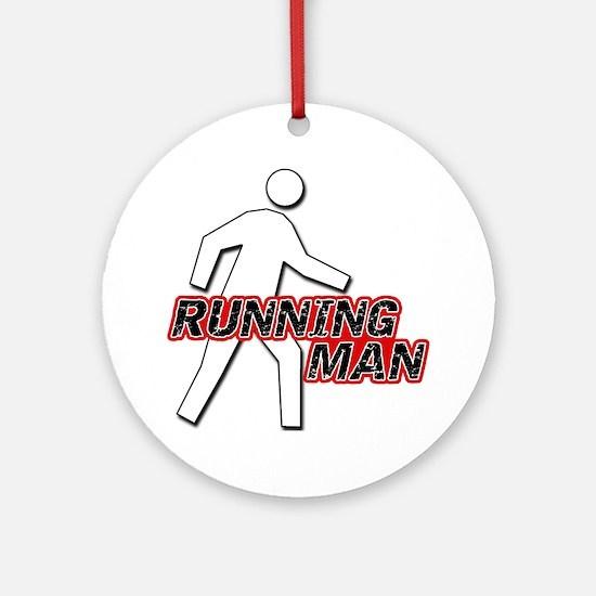 Running Man Ornament (Round)