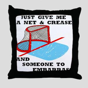 Hardcore Goalie Throw Pillow