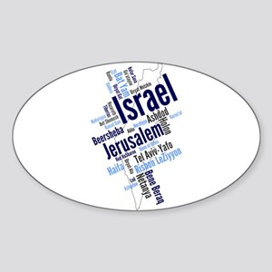 Israel Word Cloud Sticker