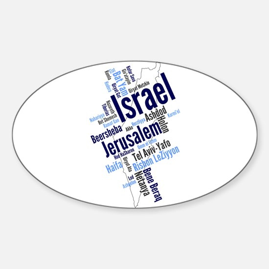 Israel Word Cloud Decal