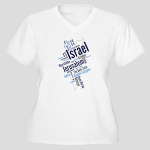 Israel Word Cloud Plus Size T-Shirt