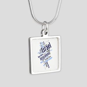 Israel Word Cloud Necklaces