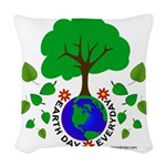 Earth Day Everyday Woven Throw Pillow