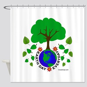 Earth Day Everyday Shower Curtain