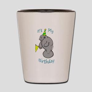 Birthday Manatee Shot Glass