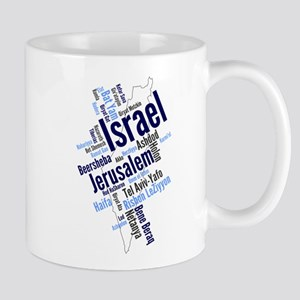 Israel Word Cloud Mugs