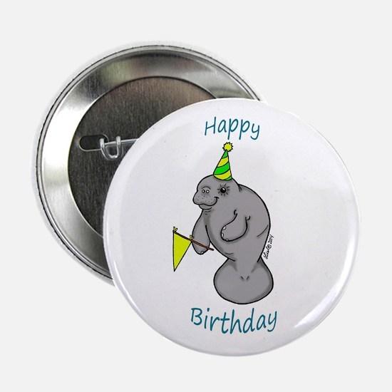 "Happy Birthday Manatee 2.25"" Button"