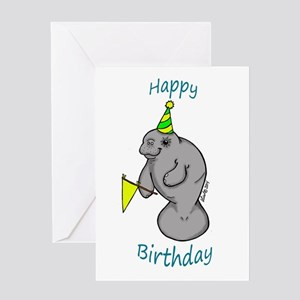 Happy Birthday Manatee Greeting Cards